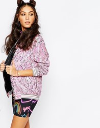 Jaded London Festival Sequin Bomber Jacket Multi