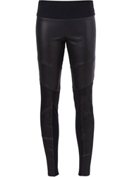 Lost And Found Leather Leggings Black