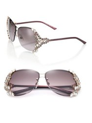 Swarovski Special Edition 65Mm Crystal Sunglasses Violet