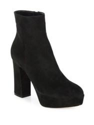 Gianvito Rossi Texas Suede Platform Booties Texas Black Nero