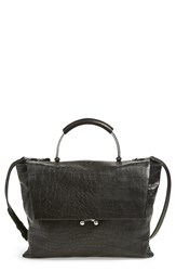 Etienne Aigner 'Paley' Satchel Black Moto Croco