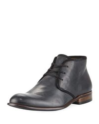 John Varvatos Seagher Leather Chukka Boot Black