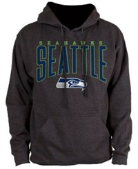Nfl Authentic Apparel Seattle Seahawks Defensive Line Hoodie Heather Charcoal