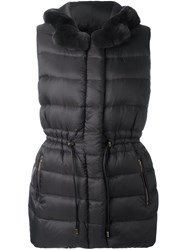 Yves Salomon Reversible Padded Gilet Grey