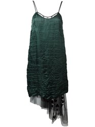 N 21 No21 Beaded Fan Tulle Dress Green