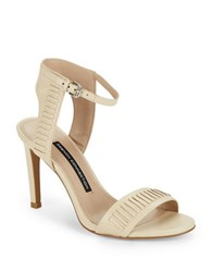 French Connection Linna Leather Sandals Ivory