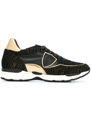 Philippe Model Metallic Detailed Sneakers Black