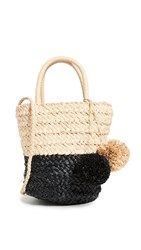 Hat Attack Bi Color Tote Natural Black