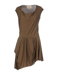 Aniye By Dresses Short Dresses Women Khaki