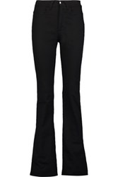 Acne Studios Myla Matt High Rise Slim Leg Jeans Black