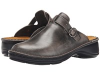 Naot Footwear Aster Vintage Gray Leather Women's Clog Mule Shoes