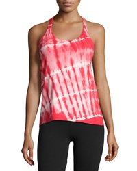 The Balance Collection Tie Dye Racerback Tank Red