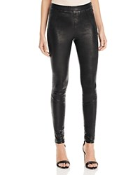 Aqua X Maddie And Tae Stretch Leather Leggings 100 Bloomingdale's Exclusive Black