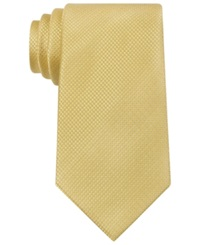 Sean John Holiday Unsolid Solid Extra Long Tie Yellow