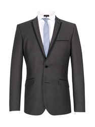 Limehaus Micro Design Single Breasted Suit Jacket Black