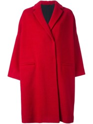 Brunello Cucinelli Concealed Fastening Coat Red