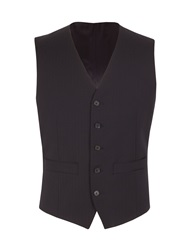 Racing Green Tailored Fit Waistcoat Navy