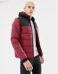 Parka London Block Colour Padded Jacket Red