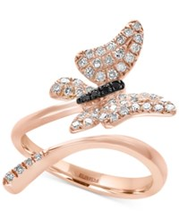 Effy Diamond Butterfly Ring 3 8 Ct. T.W. In 14K Rose Gold