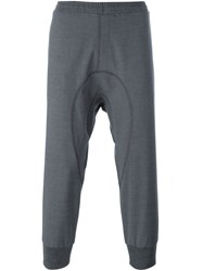 Neil Barrett Gathered Ankle Track Pants Grey