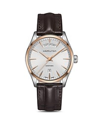 Hamilton Jazzmaster Watch 42Mm Silver Brown