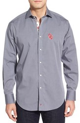 Men's Thomas Dean 'Oklahoma Sooners' Regular Fit Long Sleeve Sport Shirt