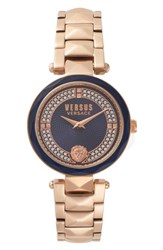 Versus By Versace Covent Garden Bracelet Watch 36Mm Rose Gold Blue Rose Gold