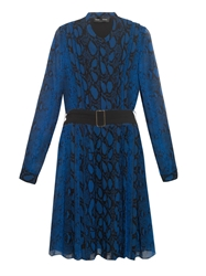 Proenza Schouler Python Print Pleated Silk Dress