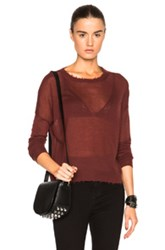 Helmut Lang Fine Cashmere Sweater In Red