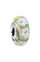 Pandora Design 'Wild Flowers' Murano Glass Charm Wild Flowers Clear