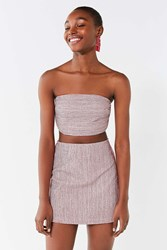 Urban Outfitters Uo Lana Striped Bodycon Skirt Red Multi