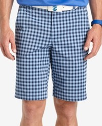 Izod Golf Range Gingham Shorts Cornflower