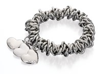 Fiorelli Costume Scrunchie Bracelet With Heart Charms
