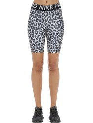 Nike Leopard Shorts White