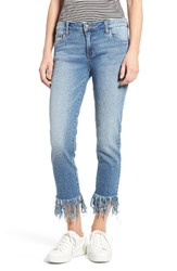 Sun And Shadow Women's Fringe Cuff Crop Jeans