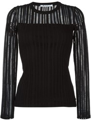 Alexander Wang T By Perforated Longsleeved Top Black