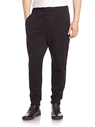 Public School Double Waistband Sweatpants Black