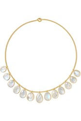 Pippa Small 18 Karat Gold Moonstone Necklace One Size