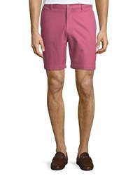 Peter Millar Soft Touch Twill Shorts Maroon
