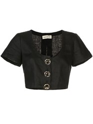 Nicholas Cropped Button Up Top 60