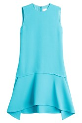 Victoria Beckham Draped Skirt Dress Turquoise