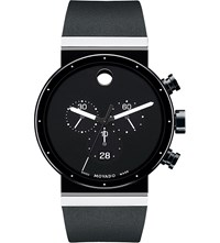 Movado 0606501 Sapphire Synergy Stainless Steel Watch Black