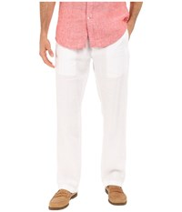 Perry Ellis Drawstring Linen Pants Bright White Men's Casual Pants