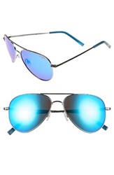 Polaroid Men's Eyewear 6012 N 56Mm Polarized Aviator Sunglasses Ruthenium Grey Blue Mirror Ruthenium Grey Blue Mirror