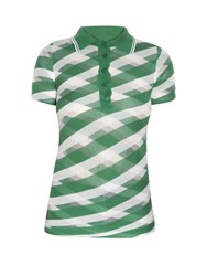 Stella Mccartney Checked Sheer Knit Polo Shirt Green Multi