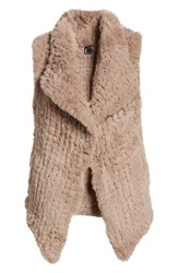 Love Token Faux Fur Vest Taupe
