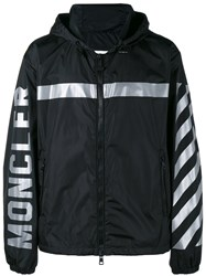 Moncler X Off White Stripe Hooded Jacket Black