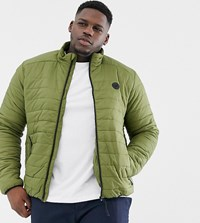 D Struct Plus Quilted Lightweight Funnel Neck Padded Jacket Green