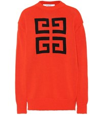 Givenchy Cotton Sweater Red