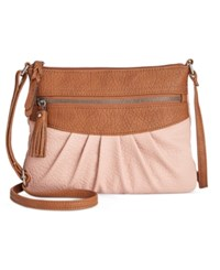 Styleandco. Style Co. Magggi Pleated Crossbody Only At Macy's Dusty Pink
